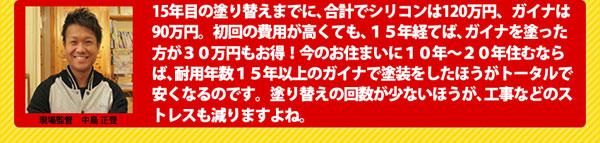 耐用年数15年以上のガイナで塗装をした方が30万円もお得!