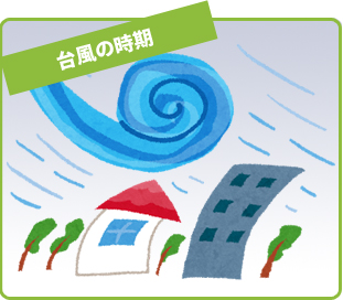 台風の時期